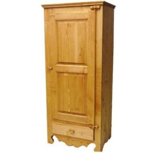 Bonnetière 1 porte 1 tiroir gonds bois