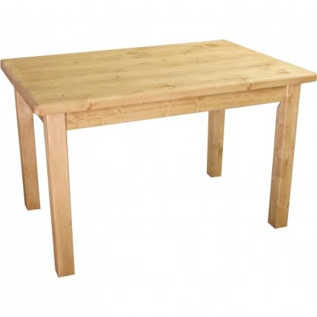 Table rectangulaire pieds droit plateau de 4 cm