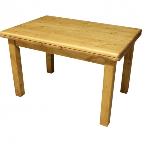 Table avec 2 allonges à l'italienne sapin massif