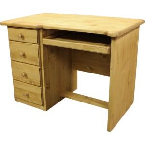 Bureau 4 tiroirs  1 tablette miel huilé