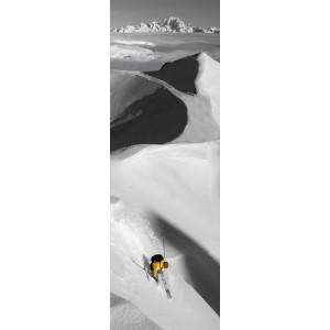Trace jaune en photo plexiglass