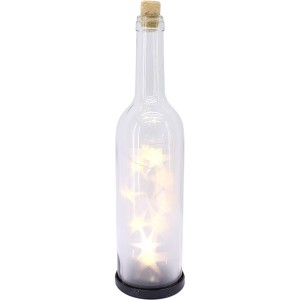 Bouteille verre lumineuse