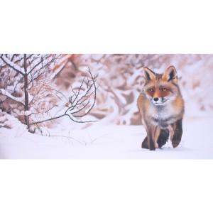 Tableau renard silencieux dans la neige