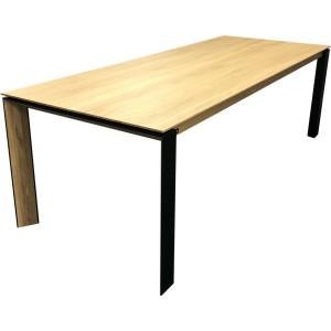 Table oxford en chêne massif et pieds metal