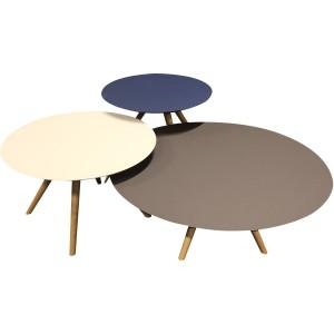 Ensemble de trois tables basses fenix