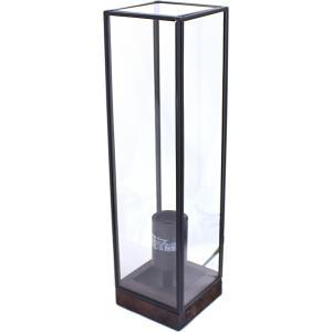 Lampe rectangle verre métal