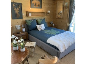 Decorazione di chalet mobili da montagna per la camera da letto