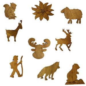 Figurine legno montagna