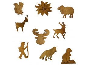 Wooden Mountain Figurines
